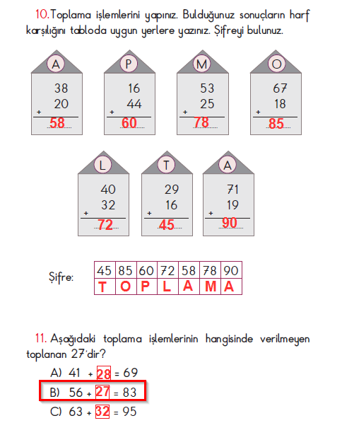 2. Sınıf Açılım Yayınları Matematik Ders Kitabı 81. Sayfa Cevapları