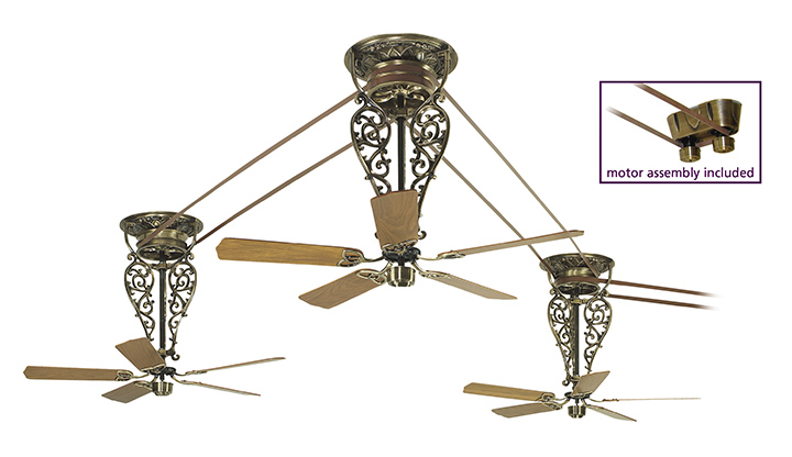 Another Beautiful Antique Type Belt Driven Ceiling Fan