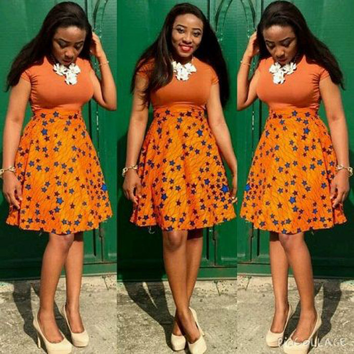 plain and pattern ankara gown (2)
