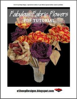Fabulous Fabric Flowers by eSheep Designs