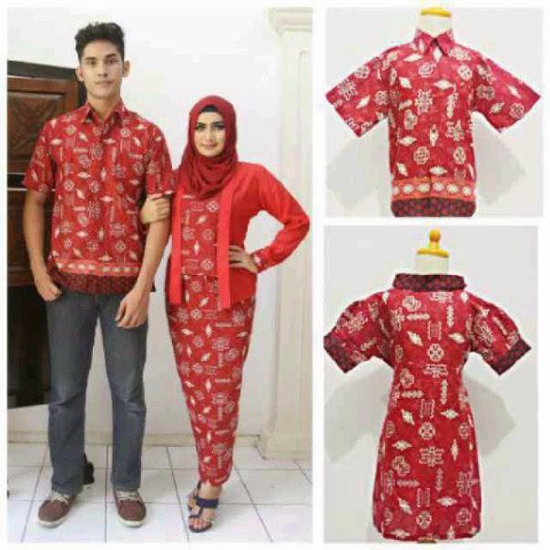 Model Seragam Baju Batik Pasangan Pria Wanita Modern