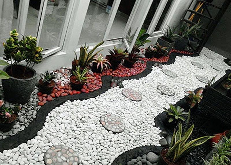 Gambar Aksesoris Aquarium Batu Hias Murah-Batu koral Pancawarna untuk hiasan taman rumah dan hiasan di tanaman hias