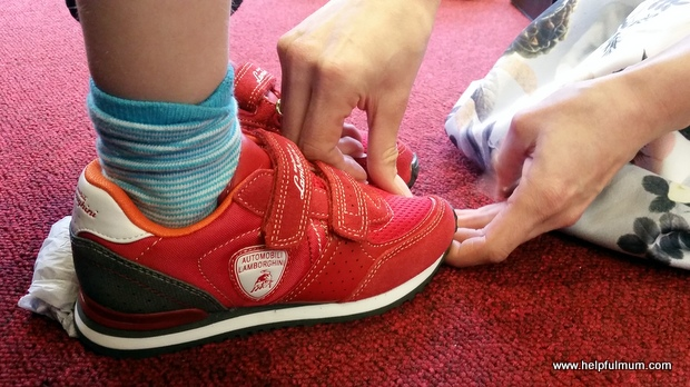 Red Lamborghini shoes