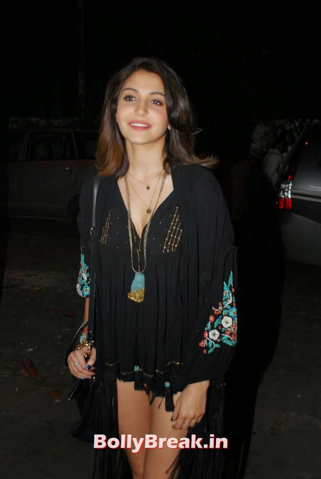 , Anushka Sharma Hot HD Photos in Black Dress & shorts