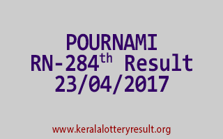 POURNAMI Lottery RN 284 Results 23-4-2017