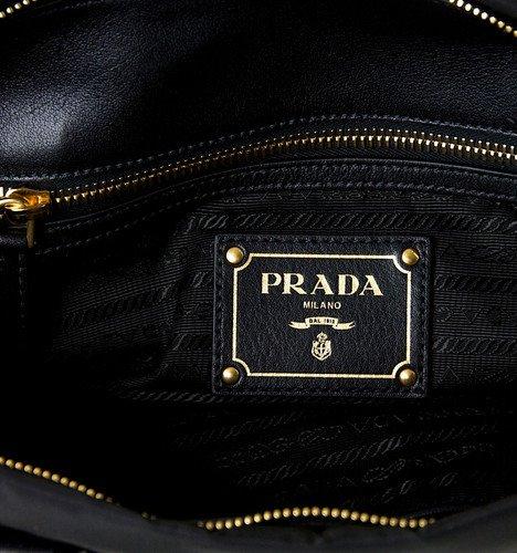 d54037a5e3833b PRADA BN1904 Top Handle Satchel Tessuto Leather Nylon Bag OUR PRICE LOWER  THAN RETAIL 40% Colour : black. Size Approx : 35x20x11cm