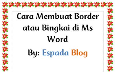 Cara Membuat Border atau Bingkai di MS Word 25