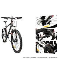 Sepeda Gunung Thrill Cleave Gent 1.0 26 Inci Black