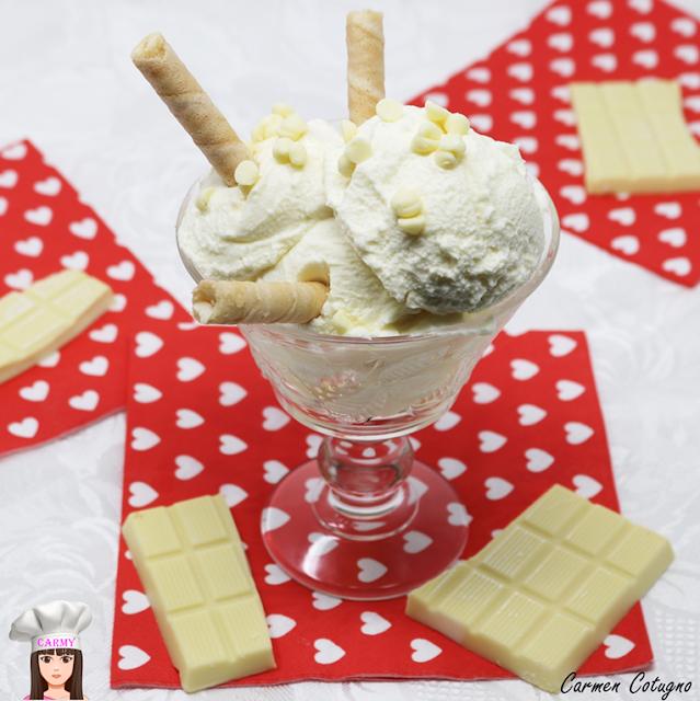 gelato al cioccolato bianco