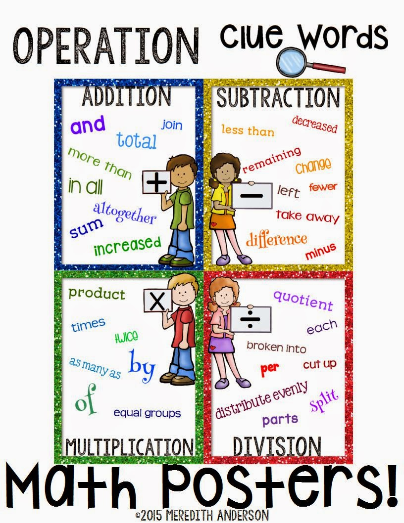 http://www.teacherspayteachers.com/Product/Math-Clue-Words-Posters-FREEBIE-1649893
