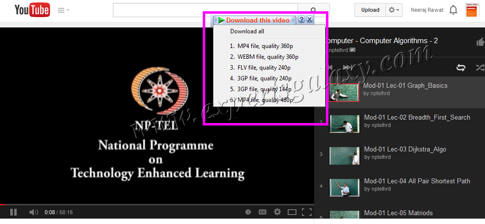 Youtube Videos Downloading Format