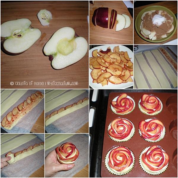 Rose di mela con pasta sfoglia