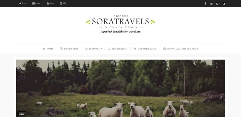 Sora Travels Free Blogger Template