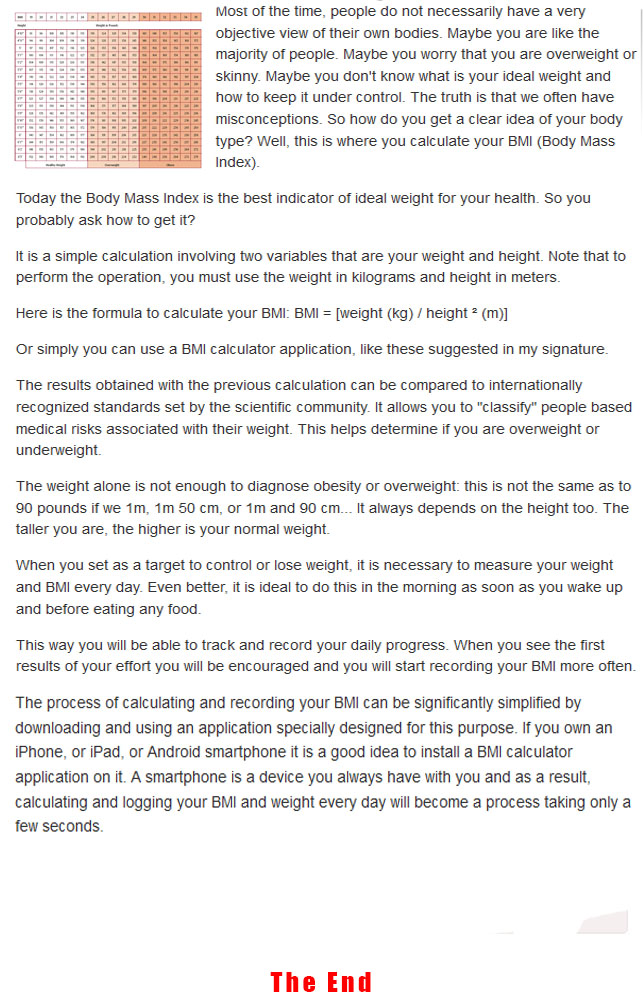 What Is Body Mass Index and How To Calculate It - Health swift - bmi calculation formula