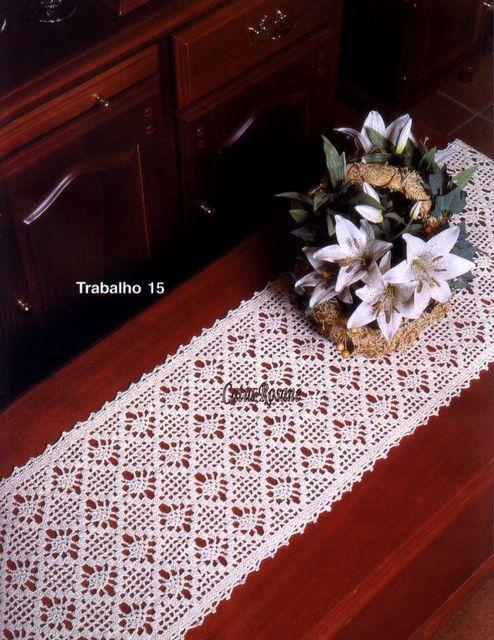 Caminos de mesa, almohadones, tapetes / Revista Crochet | Patrones ...