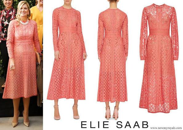 Queen Maxima wore Elie Saab Guipure Lace Dress