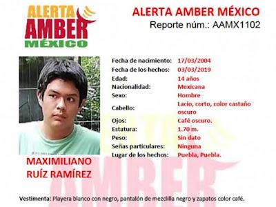 Maximiliano de Puebla conoció a una persona en redes, posteriormente desapareció