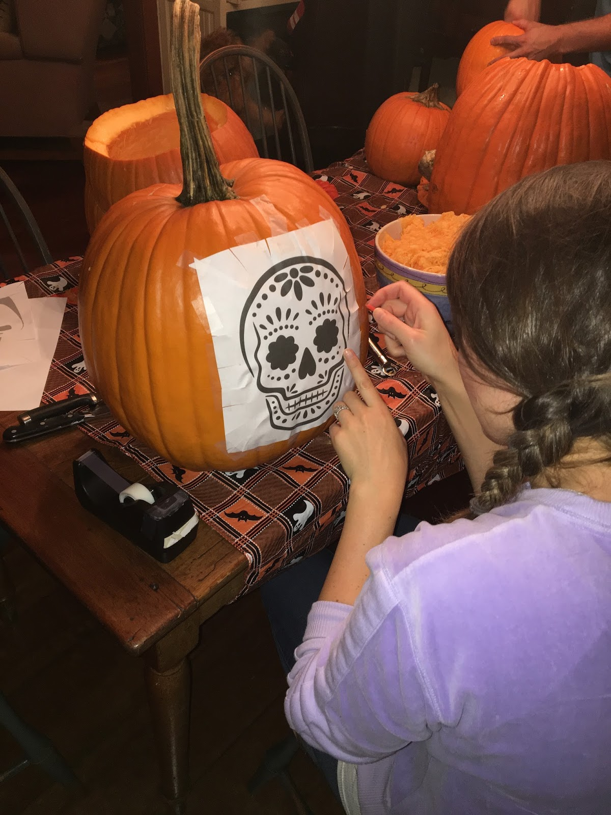 pixar themed pumpkin carving coco