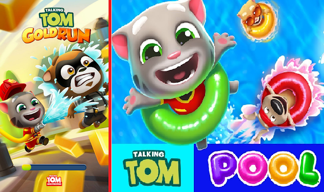Download Talking Tom Gold and Pool Apk Mod Android Game
