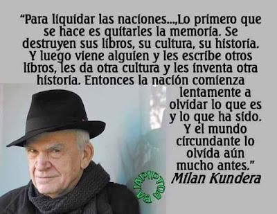Milan Kundera, El libro de la risa y el olvido, lo primero que se hace es quitarles la memoria