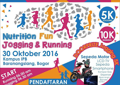 Nutrition Fun Jogging and Running 2016 Bogor pergizi pangan indonesia kampus ipb baranangsiang