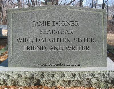 Jamie Dorner tombstone epitaph
