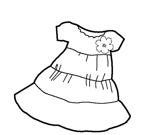 dibujos de ropa de chica