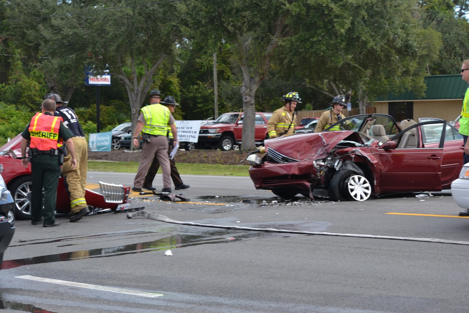 Head On Crash Closes Courtney Parkway In Merritt Island: VIDEO