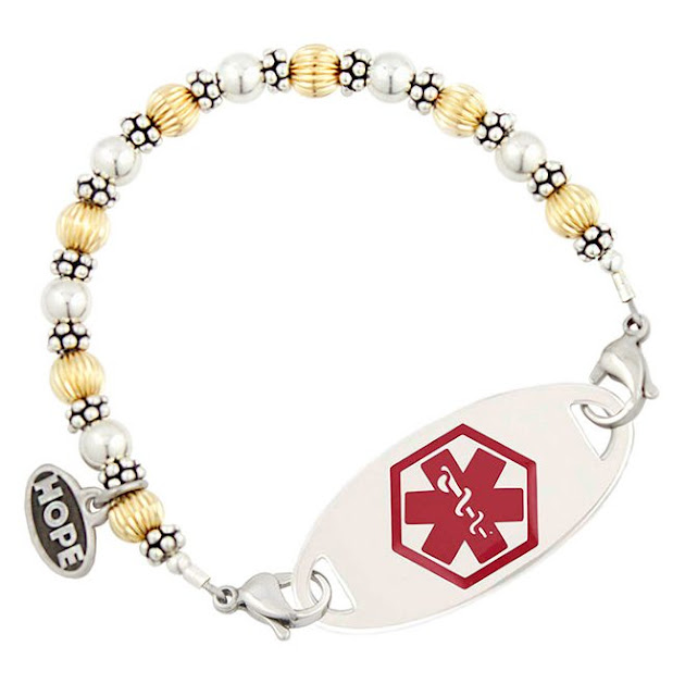Gold and Silver Medical ID Bracelet