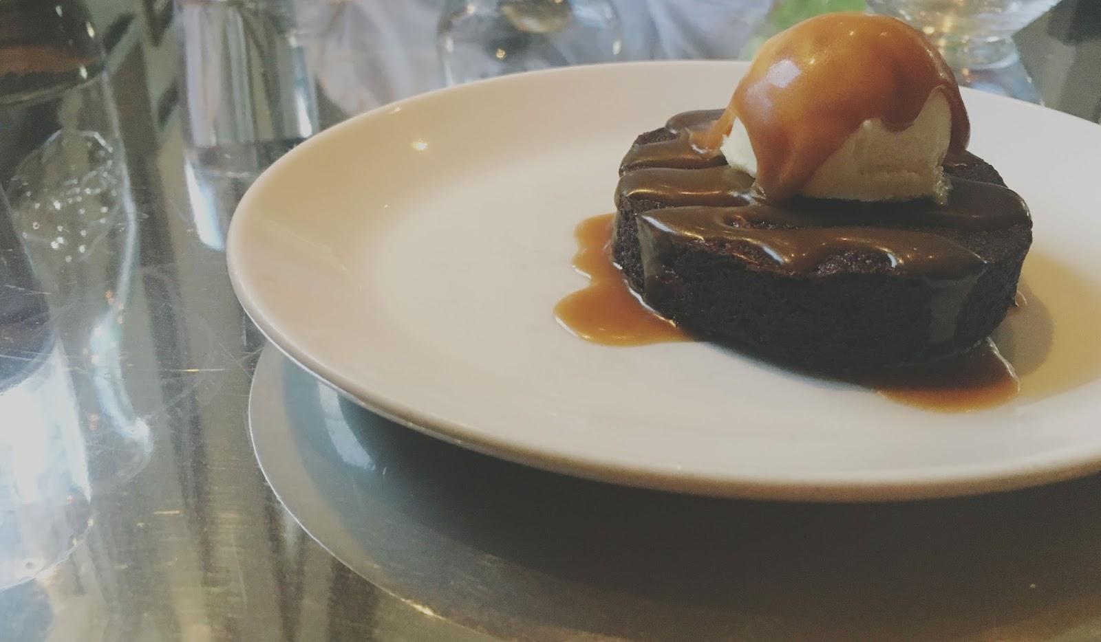 dessert at Ad Hoc - a restaurant in Napa, California