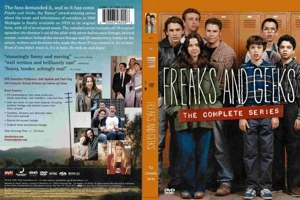 Freaks and Geeks DVD cover via http://www.covershut.com/covers/Freaks-And-Geeks-Complete-Series-Front-Cover-12859.jpg