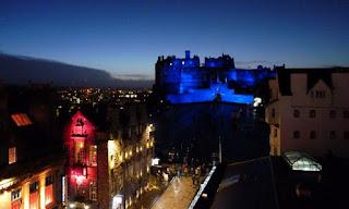 Castillo de Edimburgo desde la Camera Obscura.