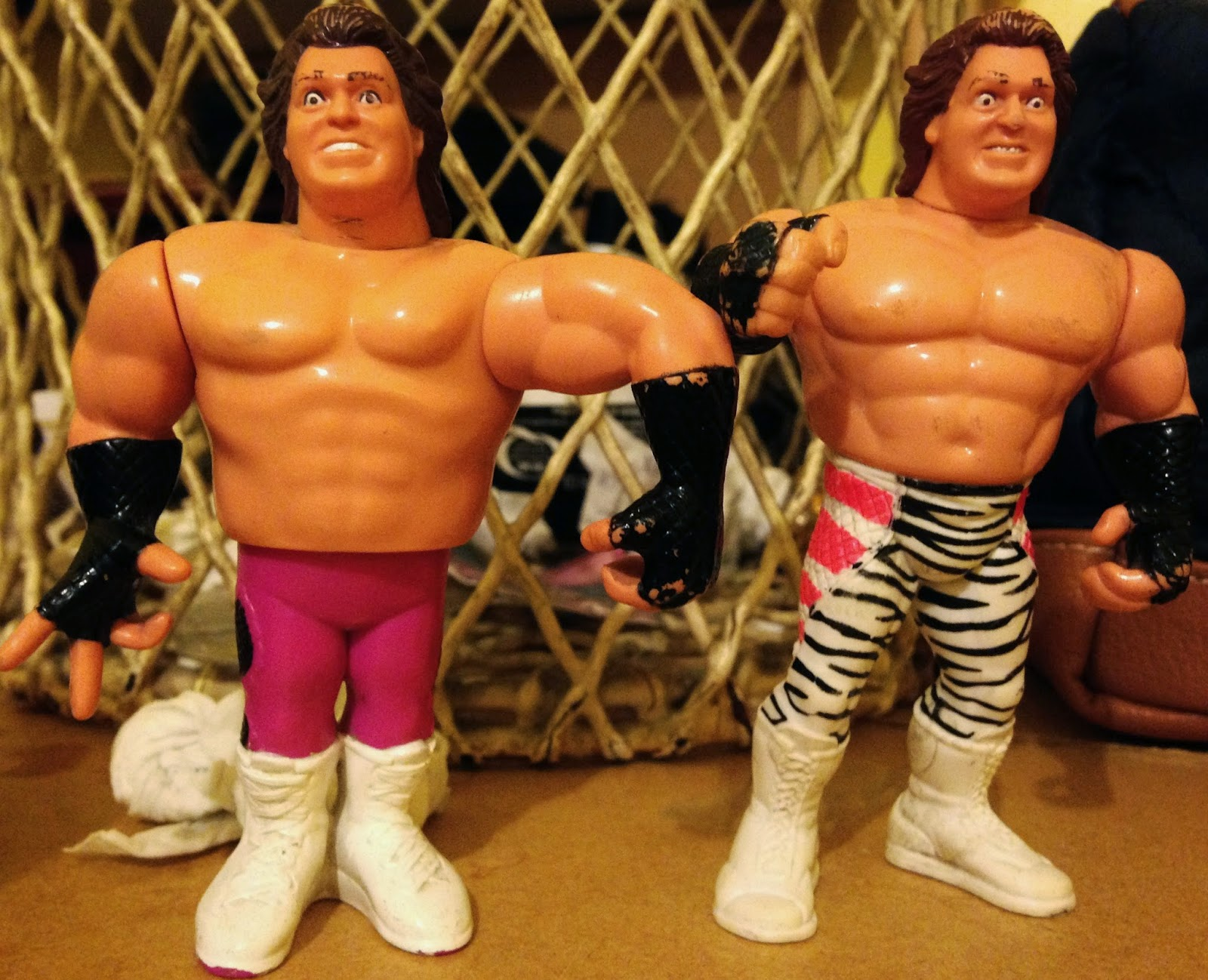 WWF Hasbro Figures - Two Brutus 'The Barber' Beefcake