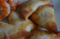 PRAWNS (WITH 'SWANS') IN FILO PASTRY
