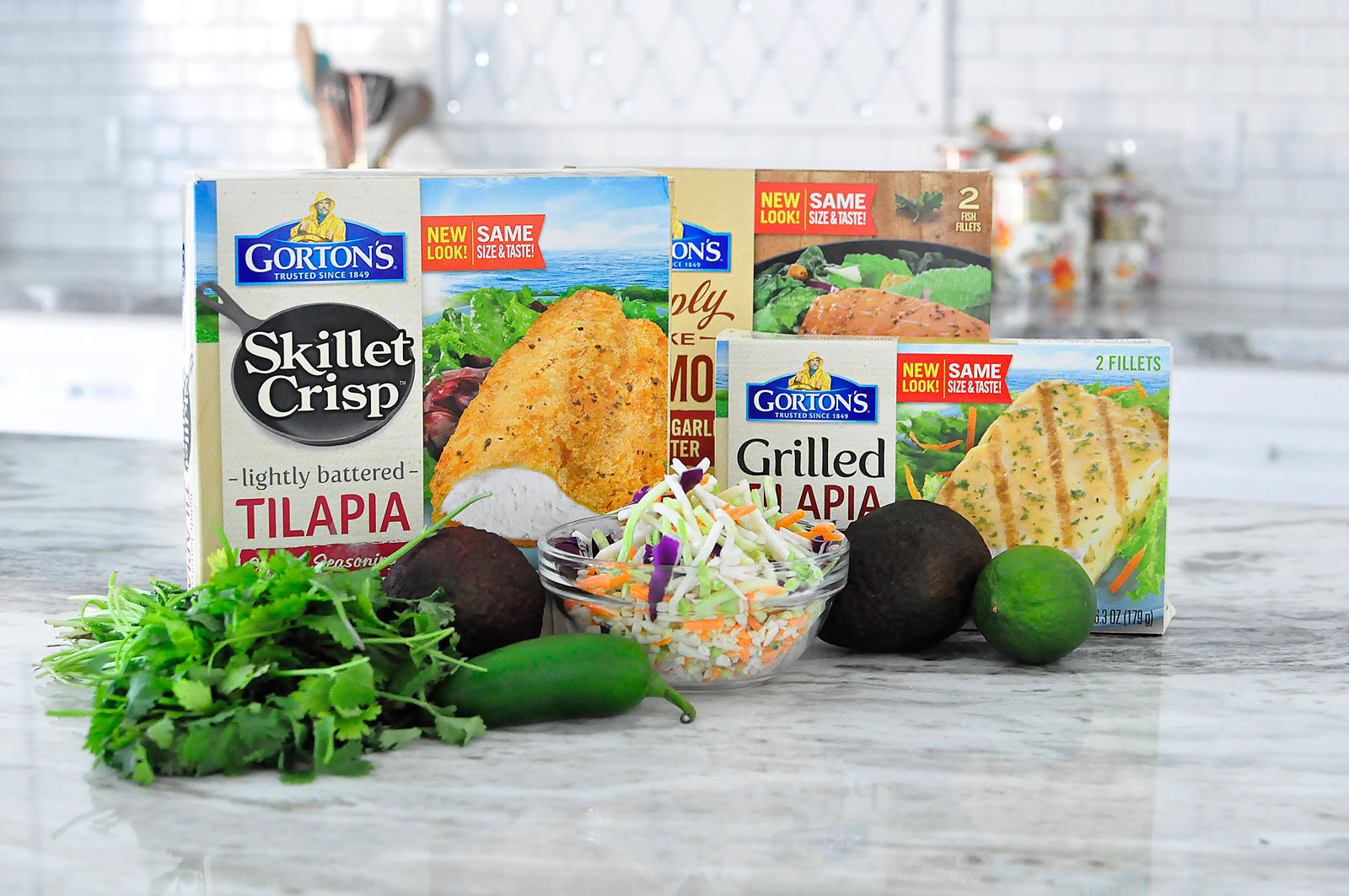 Gorton's Skillet Crisp Lightly Battered Tilapia- a healthy choice for those on Weight Watchers.