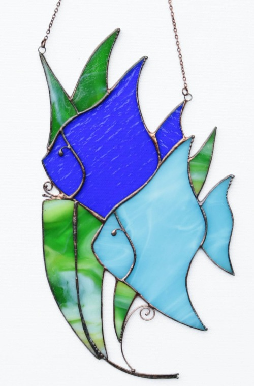 Stained Glass Fish Sun Catcher
