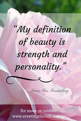my definition of beauty is strength and personality - DVF