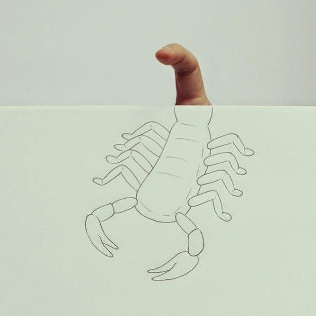 creative illusions, finger art