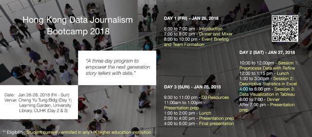 Hong Kong Data Journalism Bootcamp 2018