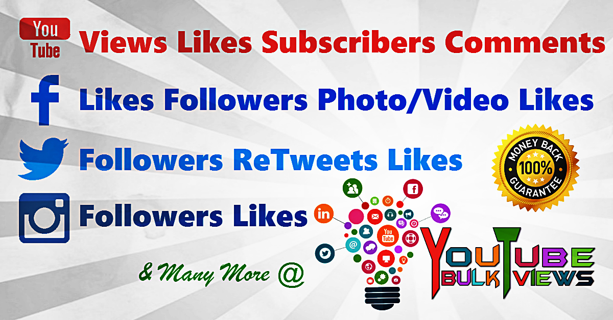 Buy Real Youtube Views, Facebook Likes & Instagram Followers