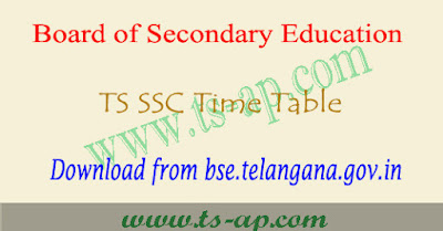TS SSC time table 2019, 10th exam hall tickets