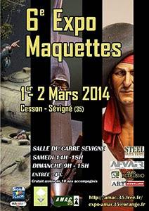 Exposition maquettes Cesso-Sévigné 2014