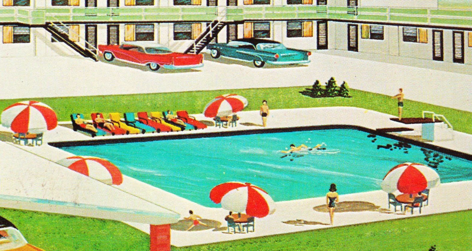 Papergreat Saturday S Postcards 1950s Motels In Florida