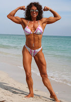 Female bodybuilding an athlete body