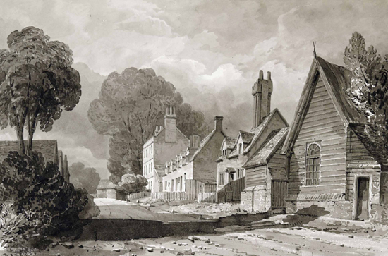 Picture of a drawing of Bell Bar by Buckler c1840