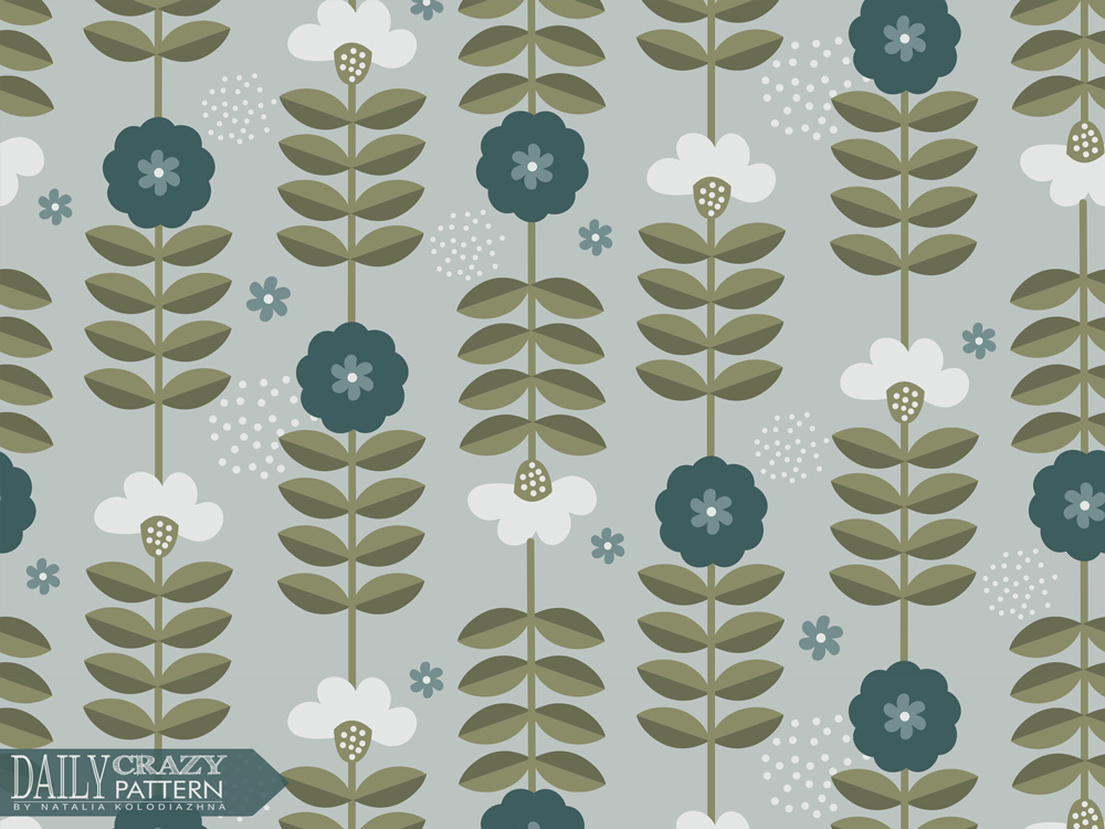 "Impressive floral pattern for ""Daily Crazy Pattern"" project"