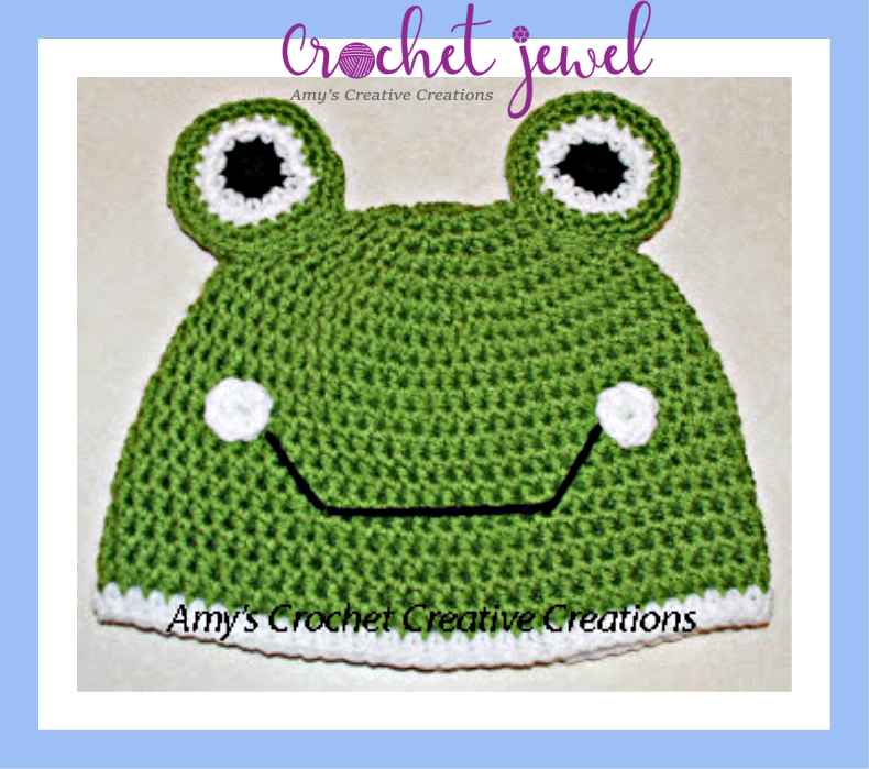 Amys Crochet Creative Creations Crochet Frog Hat All Sizes