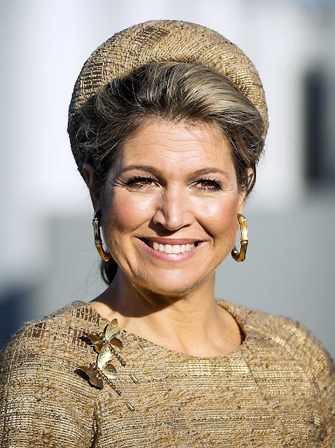 Queen Maxima of The Netherlands opens the Lustrum Beursvloer