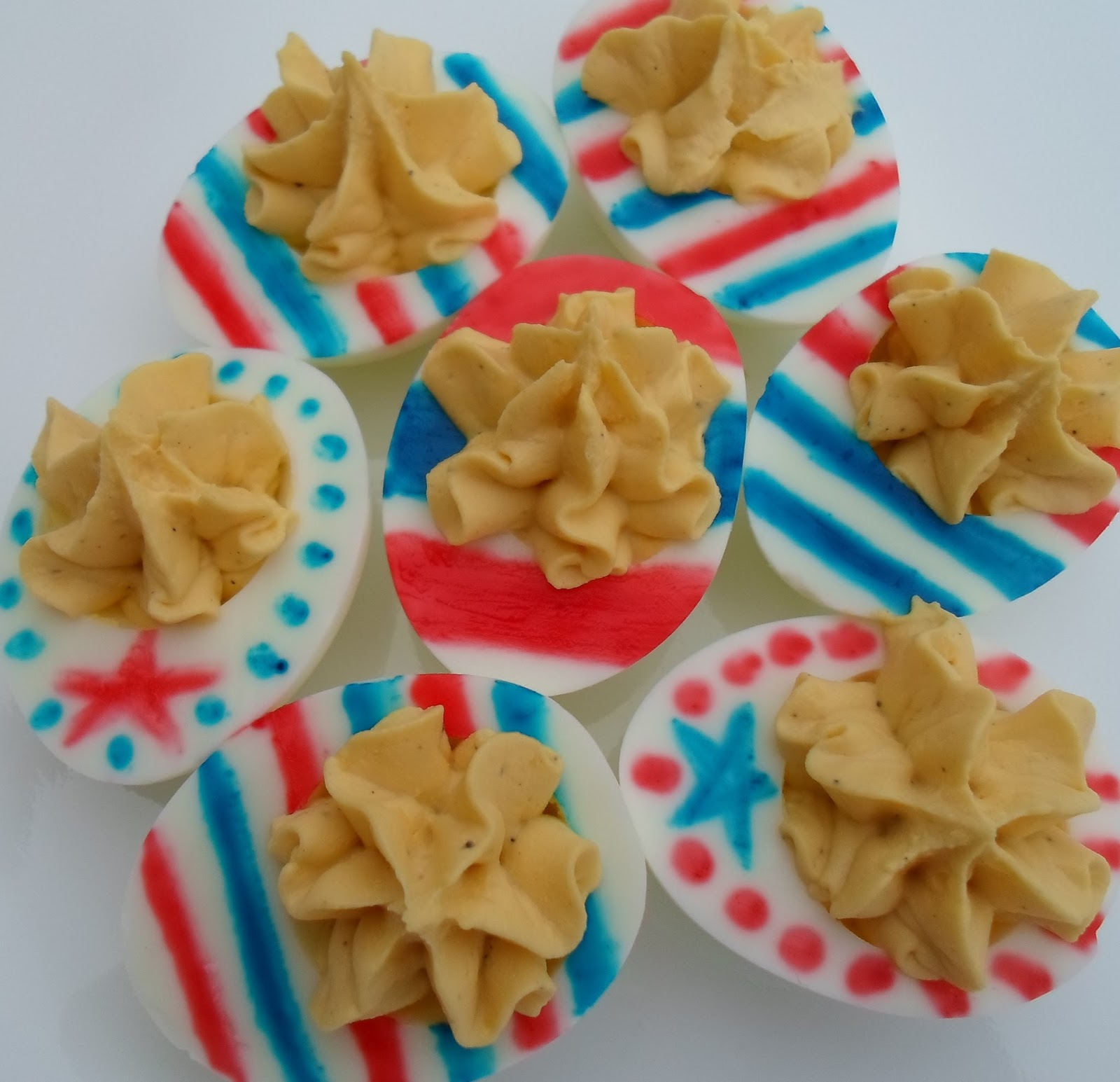 Happier Than A Pig In Mud: Stars and Stripes Deviled Eggs