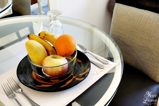 Complimentary Welcome Fruits at Vivere Hotel Alabang